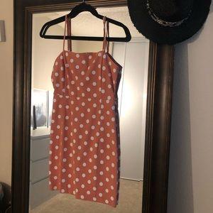 Polka dot body-con dress